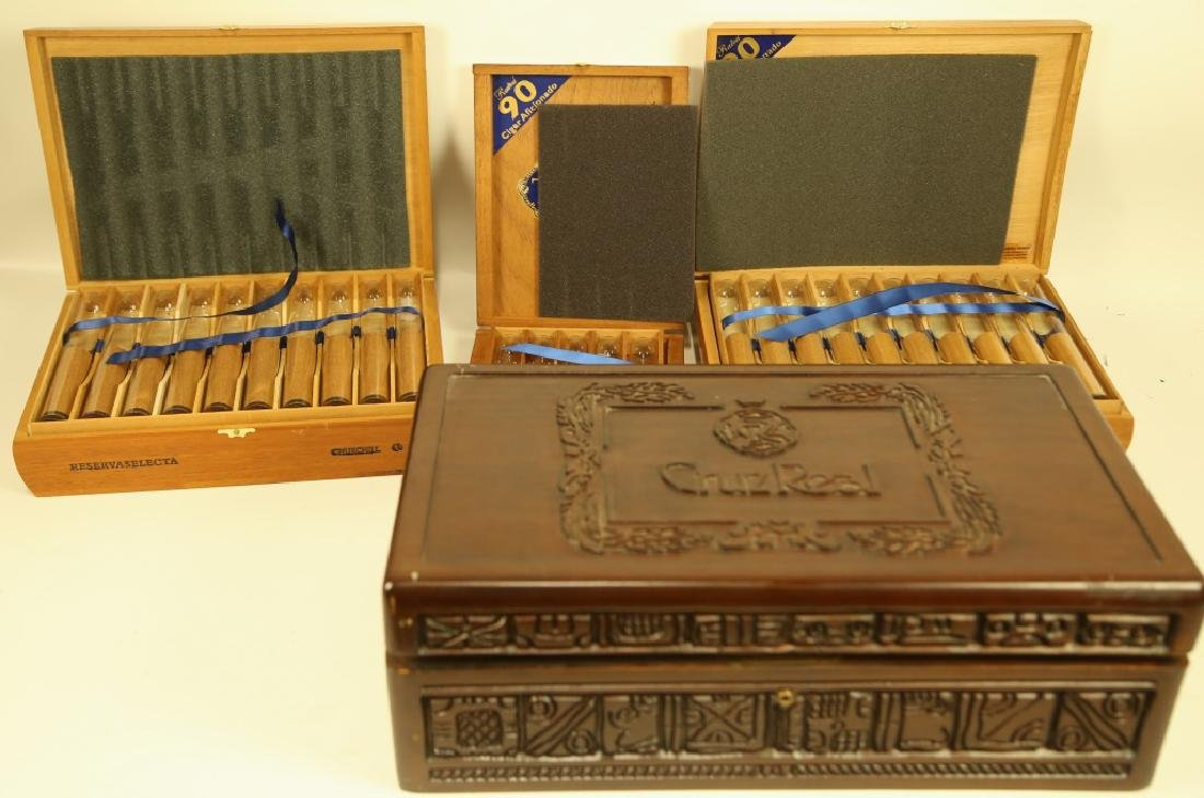 LOT OF FOUR HUMIDORS