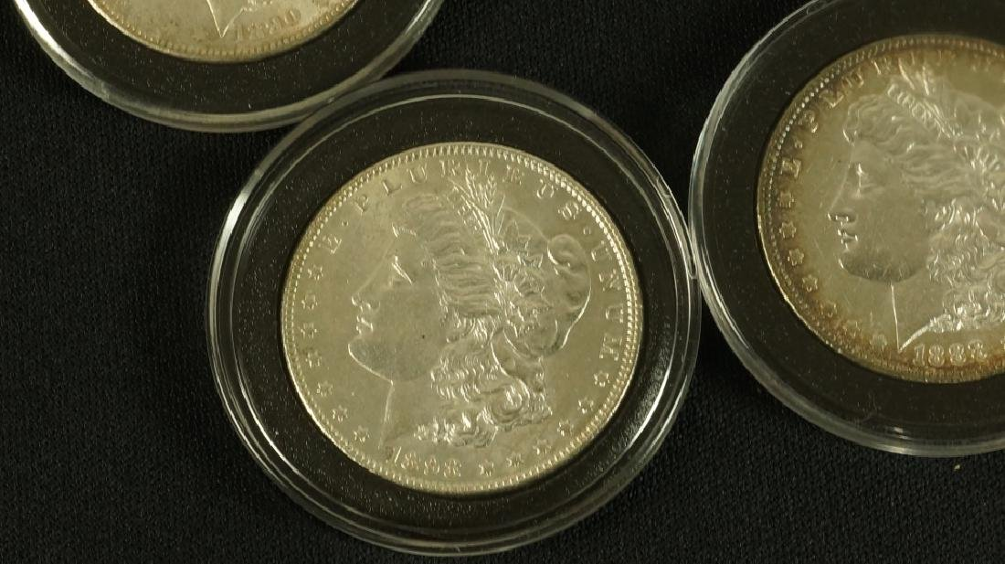 LOT OF FIVE NEAR MINT 19TH CENTURY LIBERTY COINS - 2