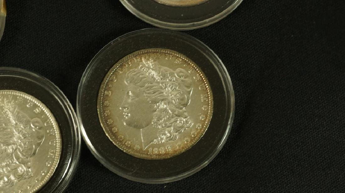 LOT OF FIVE NEAR MINT 19TH CENTURY LIBERTY COINS - 3