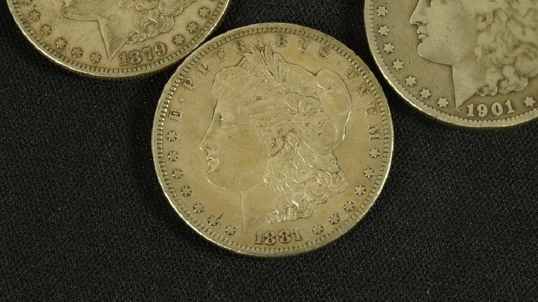 LOT OF FIVE 19TH CENTURY LIBERTY SILVER DOLLARS - 2