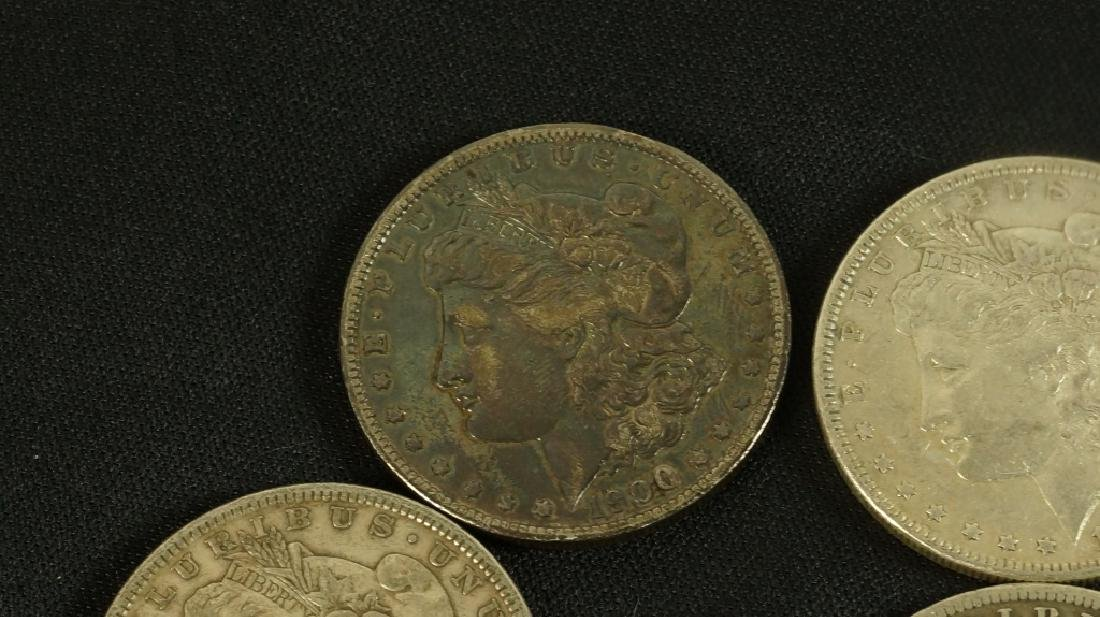 LOT OF FIVE 19TH CENTURY LIBERTY SILVER DOLLARS - 4