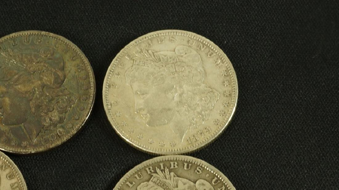 LOT OF FIVE 19TH CENTURY LIBERTY SILVER DOLLARS - 5