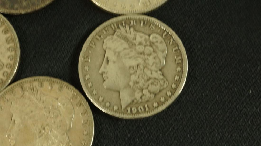 LOT OF FIVE 19TH CENTURY LIBERTY SILVER DOLLARS - 6