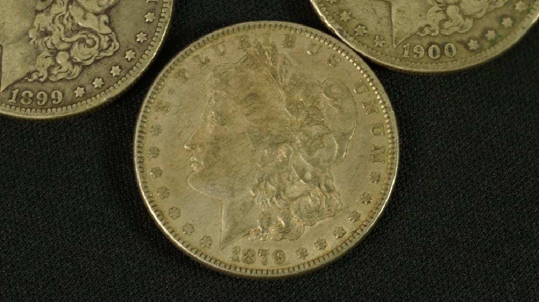 LOT OF  FIVE 19TH CENTURY LIBERTY SILVER DOLLARS - 3