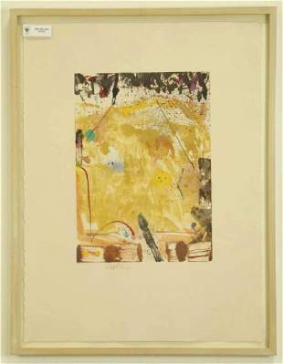 CLIFFORD ROSS UNTITLED MONOTYPE ACRYLIC ON PAPER