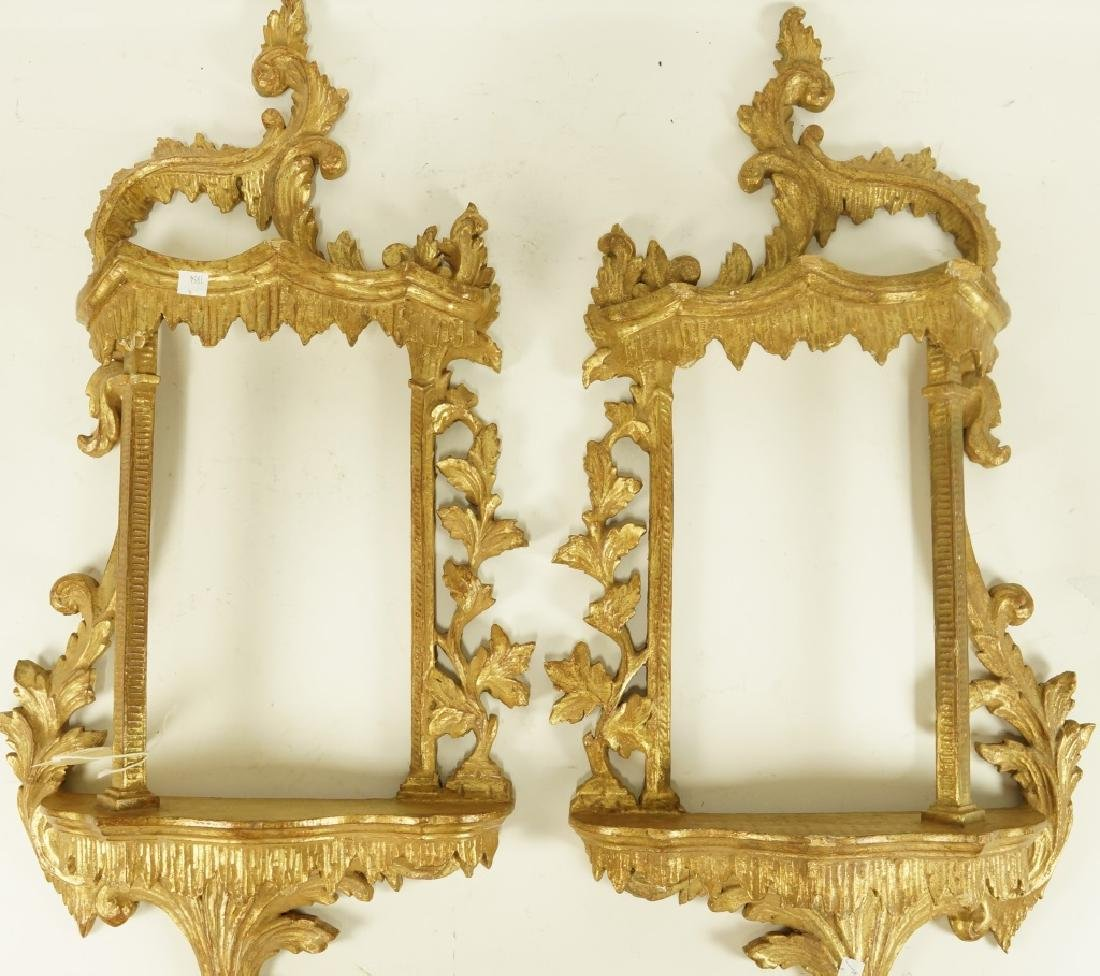 PAIR OF CARVED GILT WALL BRACKETS