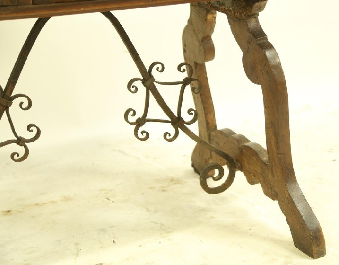 19th CENTURY SPANISH CARVED LIFT TOP DESK - 3