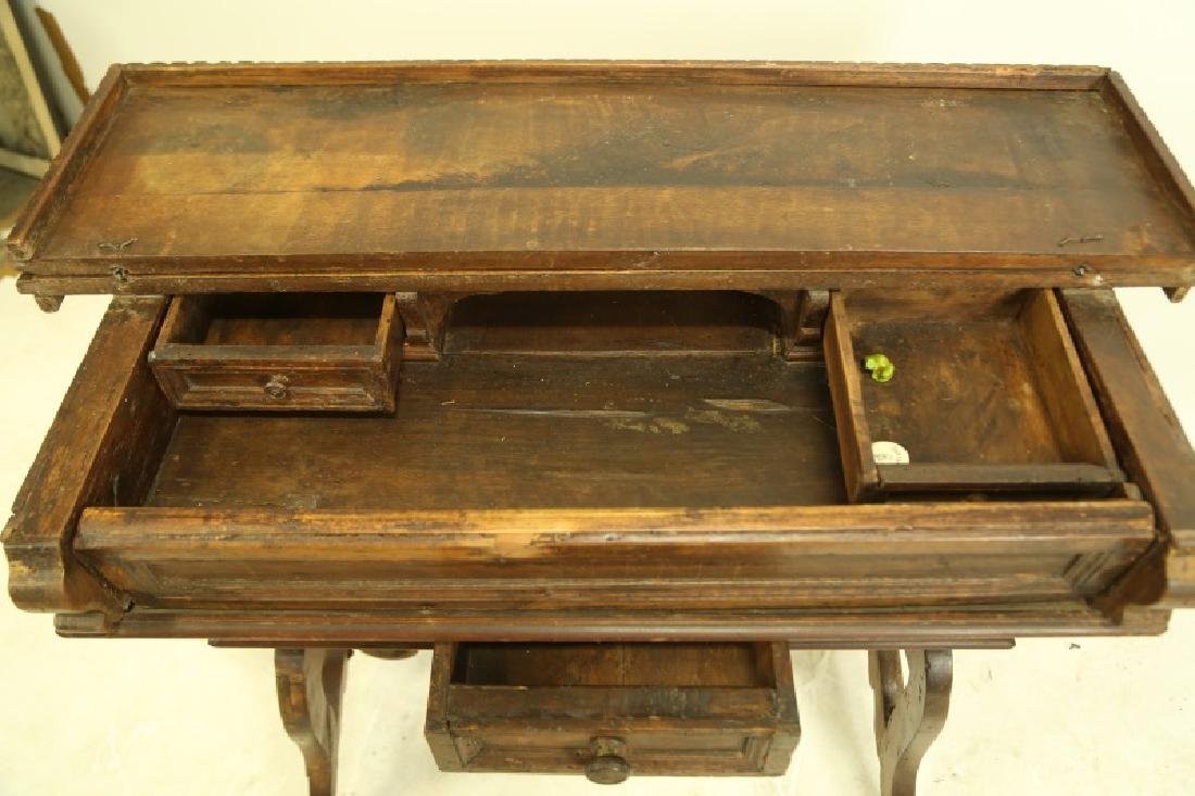 19th CENTURY SPANISH CARVED LIFT TOP DESK - 5