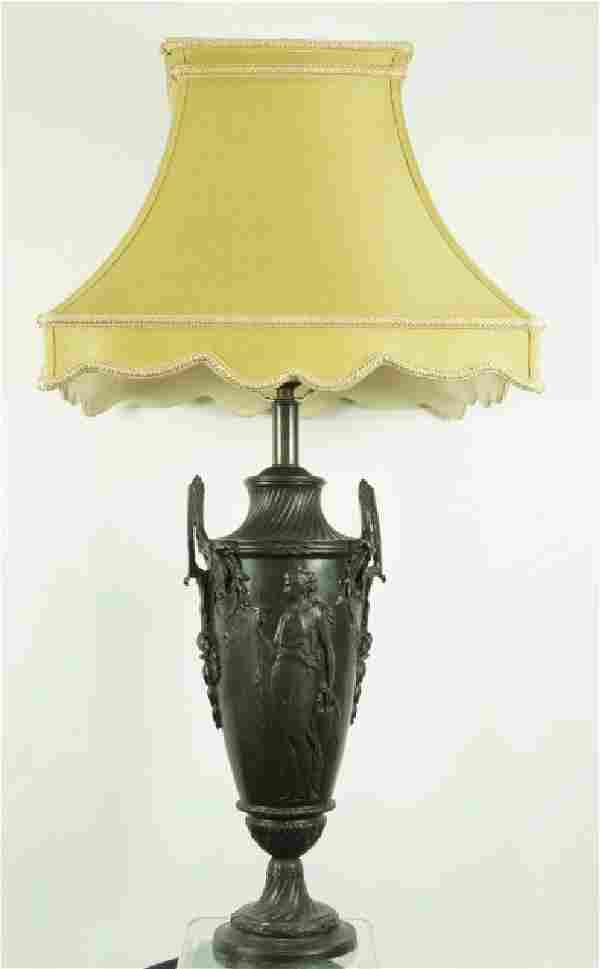 NEOCLASSICAL STYLE BRONZE URN LAMP