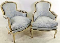 PAIR OF VINTAGE FRENCH BERGERE ARMCHAIRS