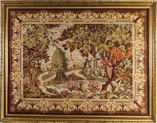 19th CENTURY FRENCH NEEDLEPOINT TAPESTRY