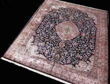 HAND KNOTTED PERSIAN SINO SILK RUG