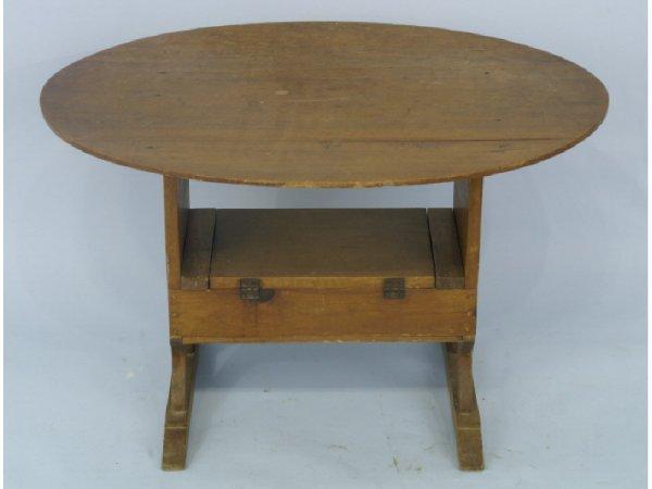 1007: Antique American pine child's flip top table