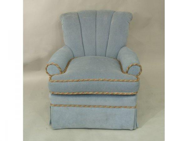 1008: Custom upholstered easy chair with swivel