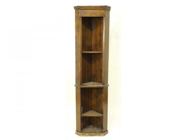 1012: Reproduction pine corner cabinet