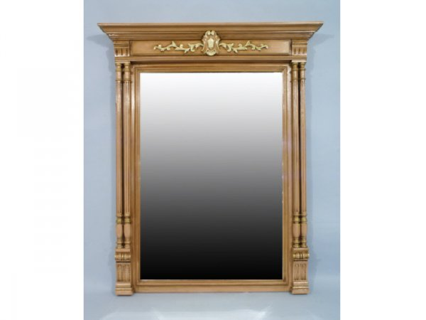 1023: Beveled mantle mirror with columns