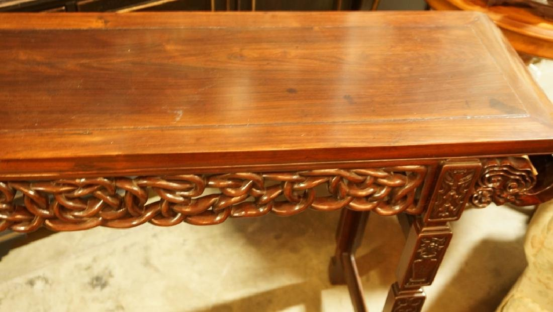 ANTIQUE CHINESE ROSEWOOD ALTAR TABLE - 3