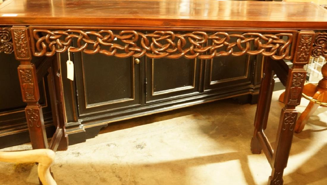 ANTIQUE CHINESE ROSEWOOD ALTAR TABLE - 4