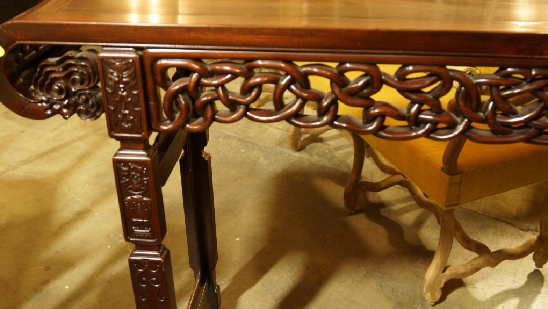 ANTIQUE CHINESE ROSEWOOD ALTAR TABLE - 5