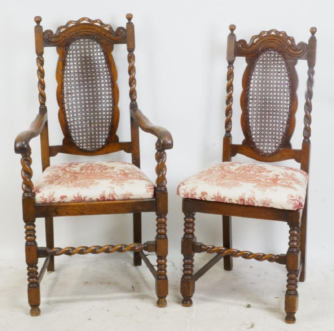 SET OF SIX 19th CENTURY BARLEY TWIST CHAIRS