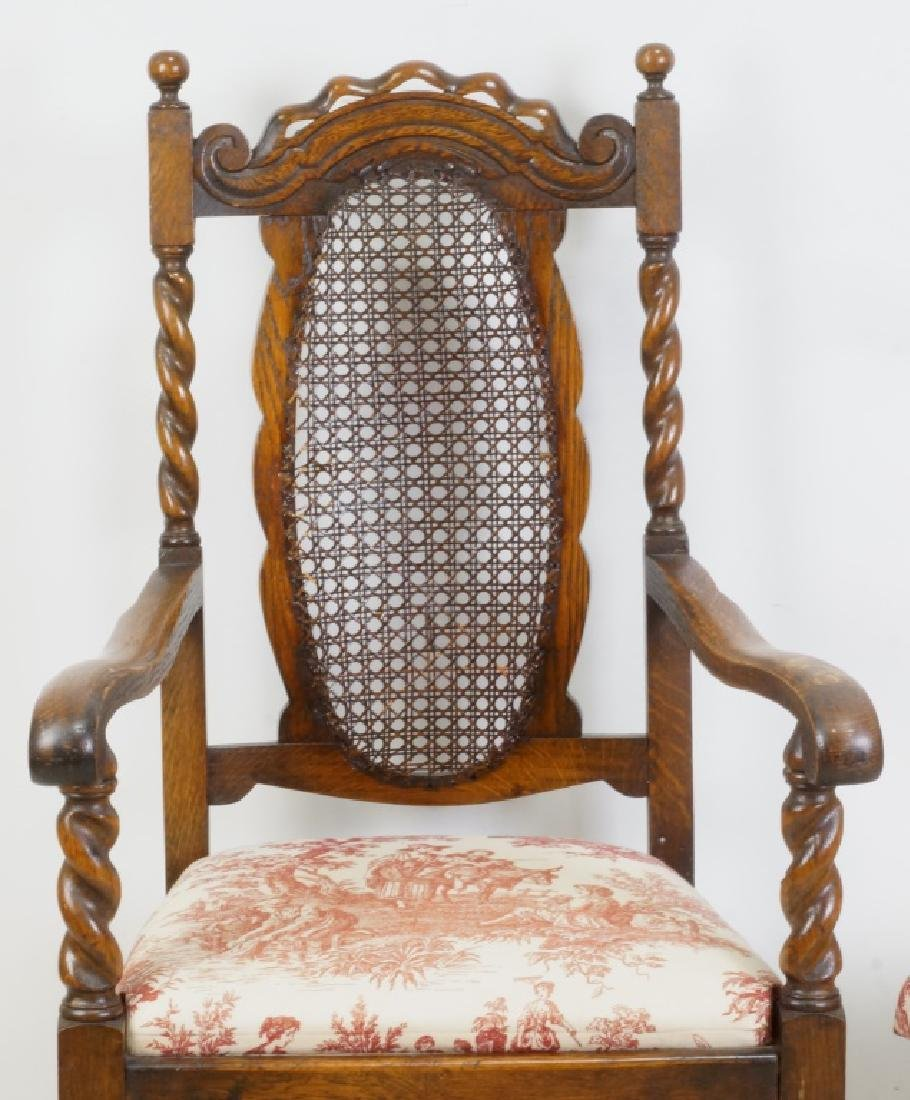 SET OF SIX 19th CENTURY BARLEY TWIST CHAIRS - 2