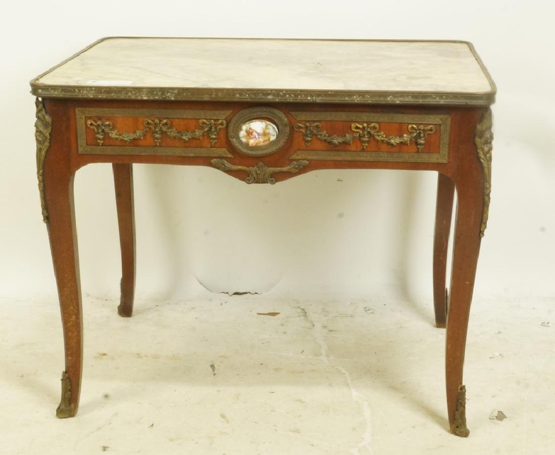 19th CENTURY FRENCH MARBLE TOP COFFEE TABLE