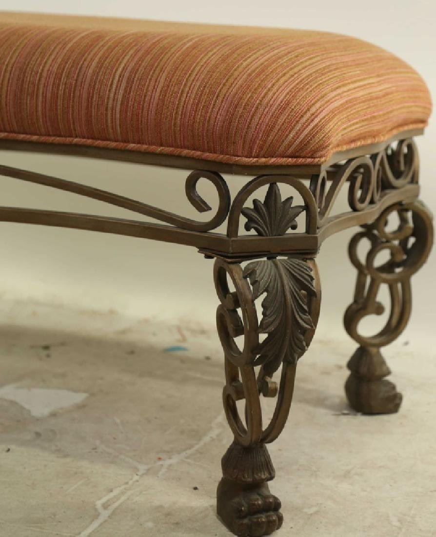 IRON BENCH WITH UPHOLSTERED SEAT - 2