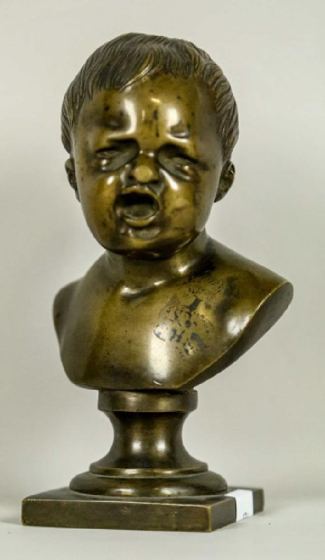 19th CENTURY BUST OF CRYING CHILD SCULPTURE