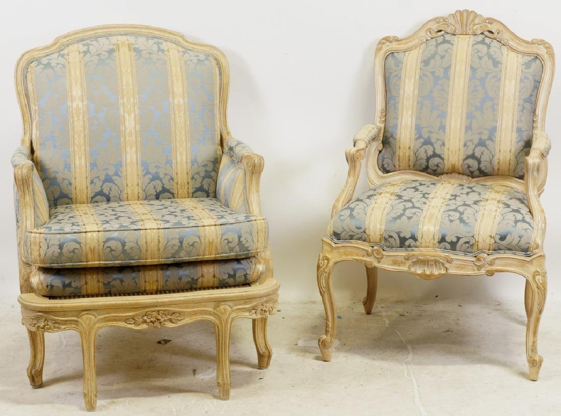LOT OF TWO FRENCH ARMCHAIRS