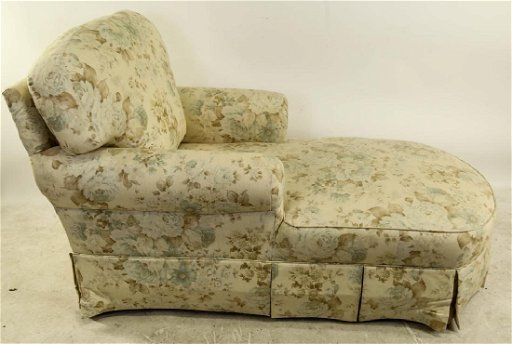 Remarkable Floral Print Upholstered Chaise Lounge Chair Squirreltailoven Fun Painted Chair Ideas Images Squirreltailovenorg