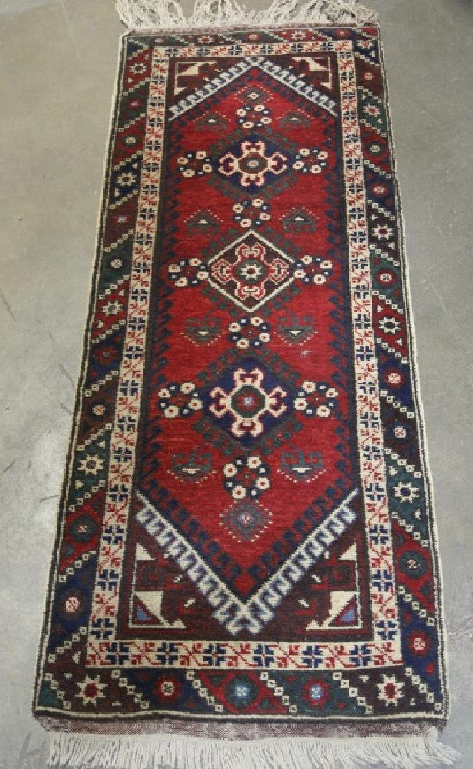 SEMI-ANTIQUE HAND KNOTTED PERSIAN RUNNER