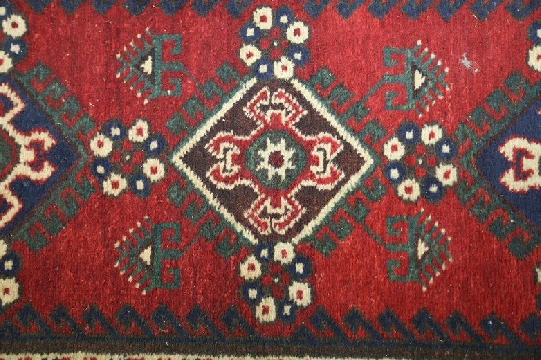 SEMI-ANTIQUE HAND KNOTTED PERSIAN RUNNER - 2