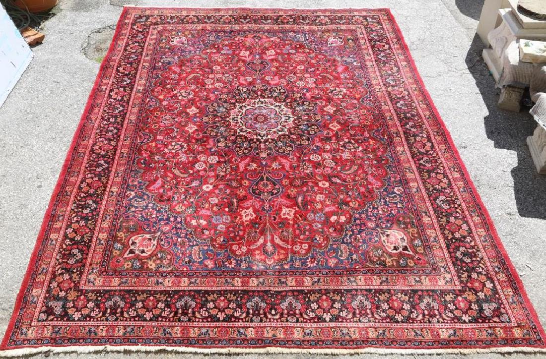 HAND KNOTTED PERSIAN MASHAD RUG - 2