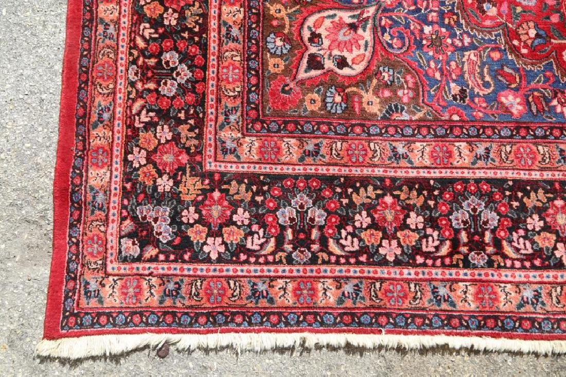 HAND KNOTTED PERSIAN MASHAD RUG - 3