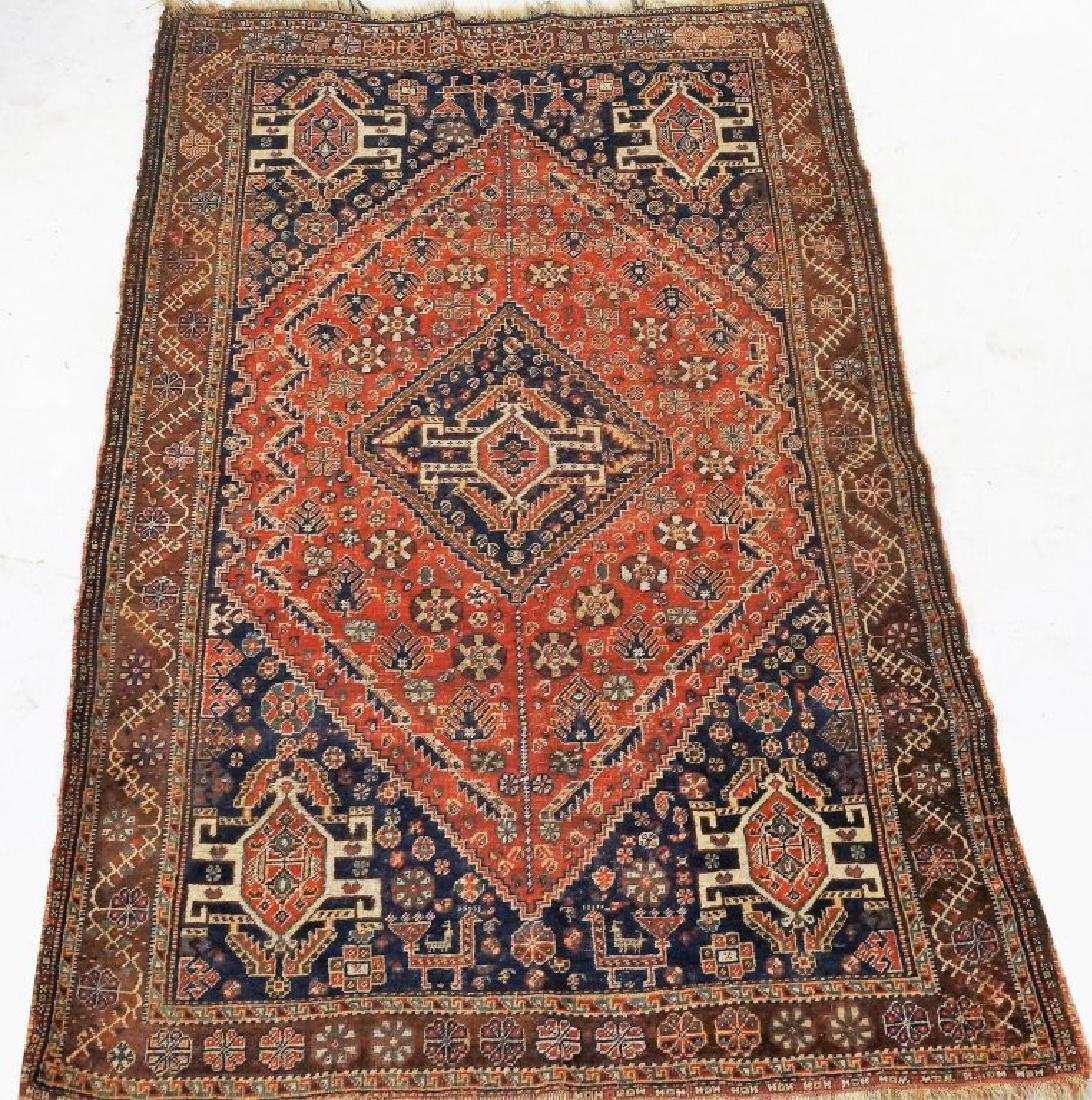 ANTIQUE HAND KNOTTED CAUCASIAN RUG