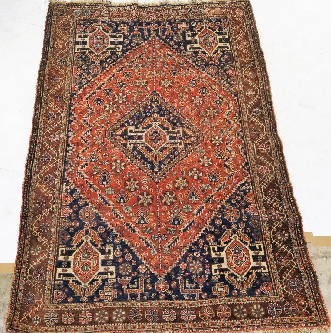 ANTIQUE HAND KNOTTED CAUCASIAN RUG - 2