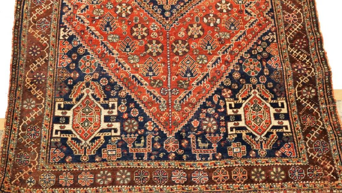 ANTIQUE HAND KNOTTED CAUCASIAN RUG - 4