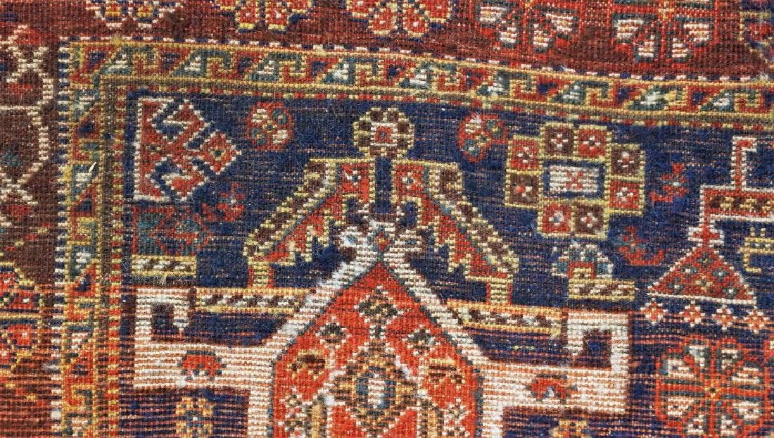 ANTIQUE HAND KNOTTED CAUCASIAN RUG - 5