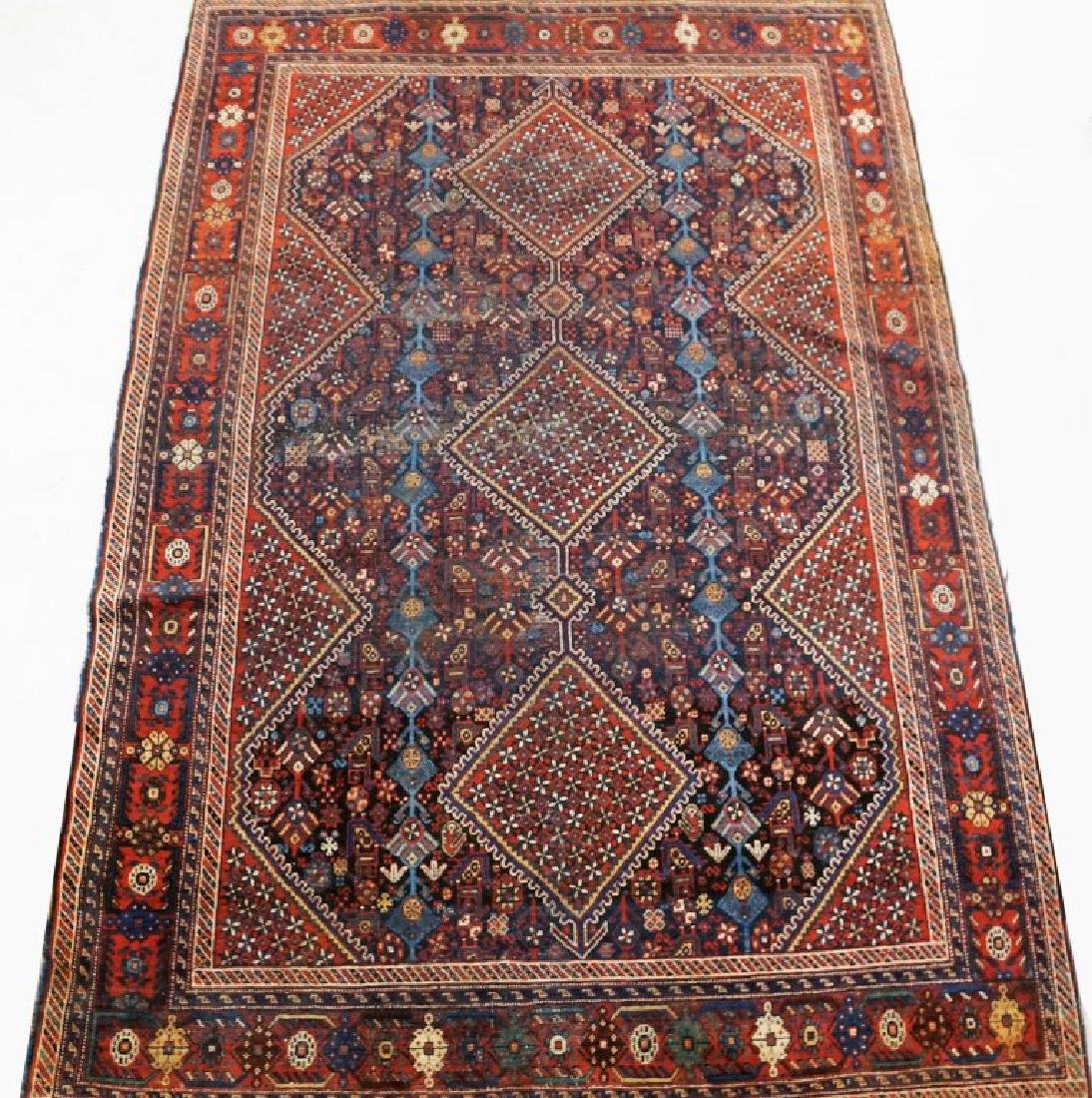 ANTIQUE HAND KNOTTED BALUCH RUG