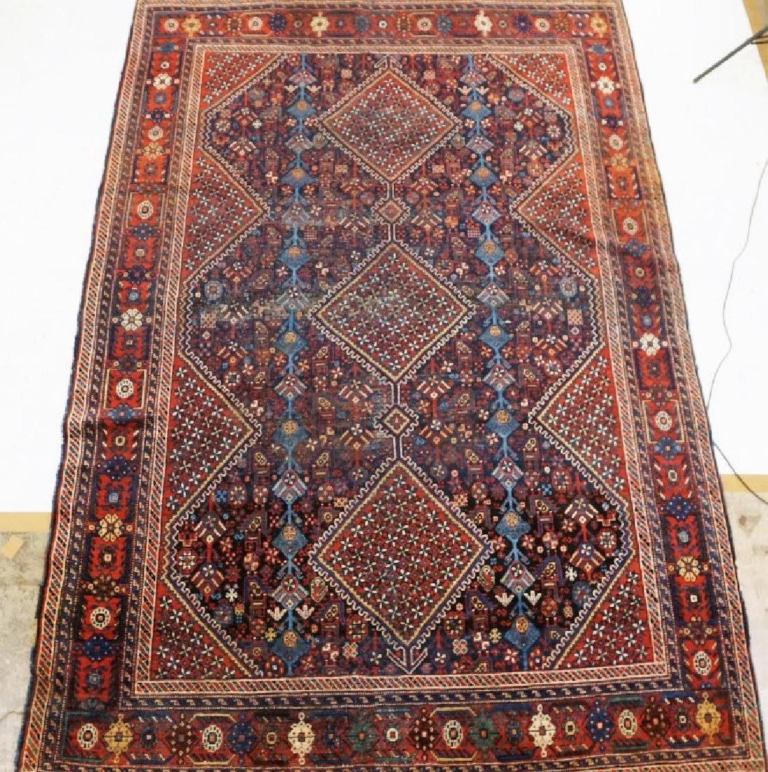 ANTIQUE HAND KNOTTED BALUCH RUG - 2