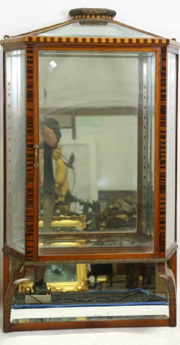 VINTAGE WALL HANGING DISPLAY CABINET WITH ROSEWOOD