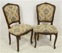 FOUR VINTAGE FRENCH STYLE DINING CHAIRS