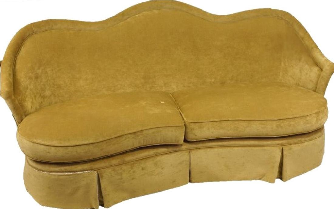 1940's STYLE CAMEL BACK SOFA BY CENTURY FURNITURE