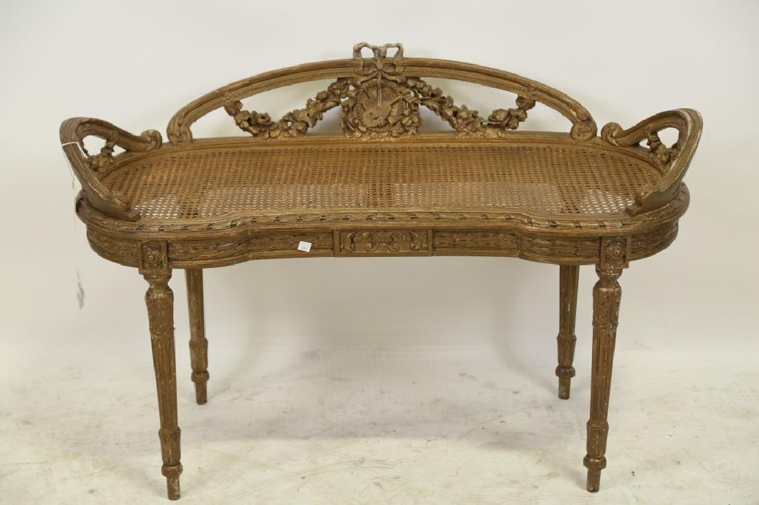 VINTAGE FRENCH STYLE BENCH