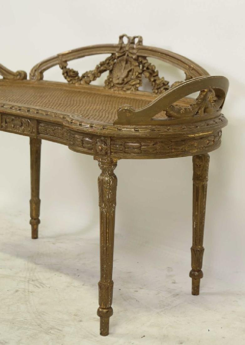 VINTAGE FRENCH STYLE BENCH - 2