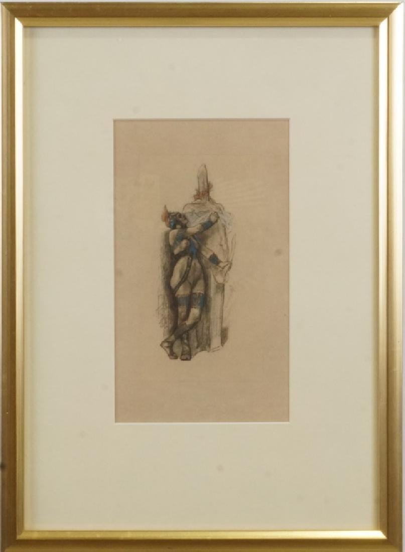 ERNEST FUCHS HAND COLORED ETCHING - 2