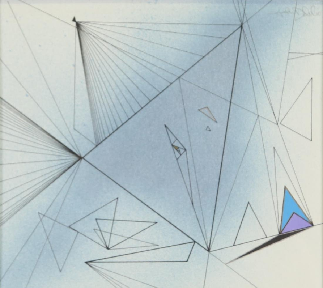 """JOHN DELULIO """"UNTITLED"""" ABSTRACT DRAWING"""