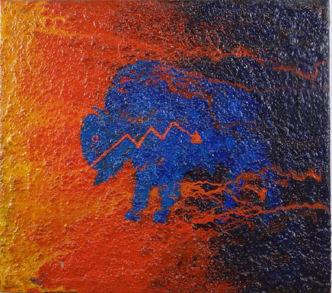 "EARL STALEY ""BUFFALO FETISH""  OIL ON CANVAS, 1996"