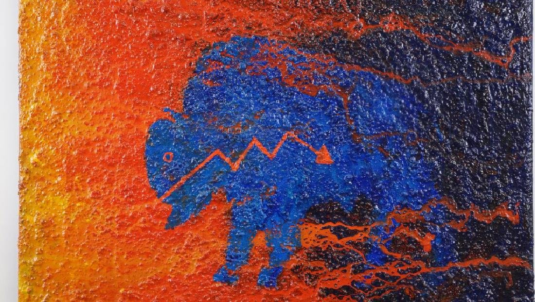 "EARL STALEY ""BUFFALO FETISH""  OIL ON CANVAS, 1996 - 2"