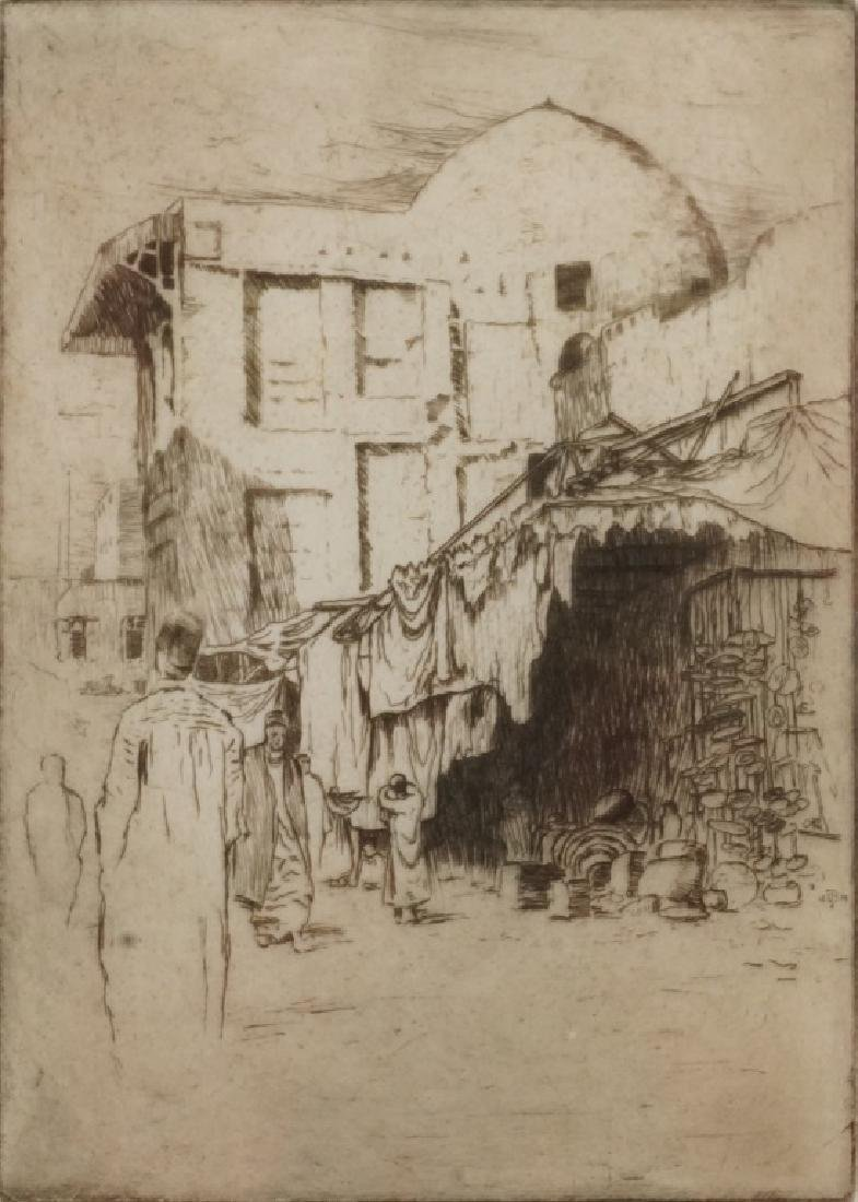 "BERTHA JACQUES ""IN THE MOWSKY - CAIRO"" ETCHING"